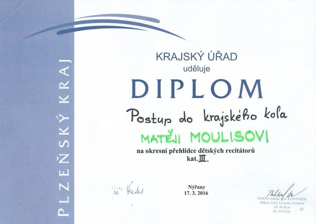 Matěj - diplom